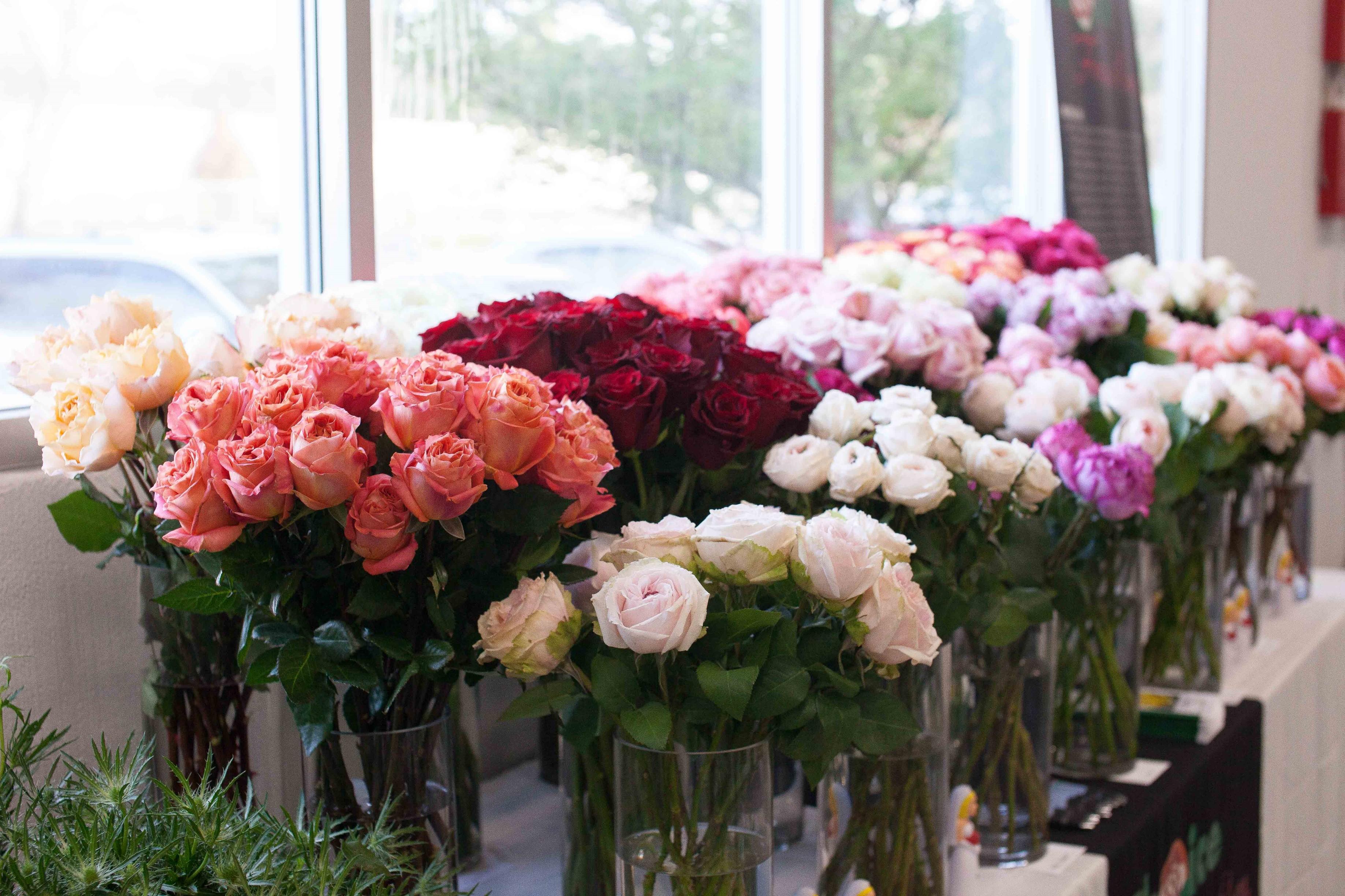 Portland Flower Market Imported Roses